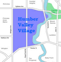 Humber Valley Village map